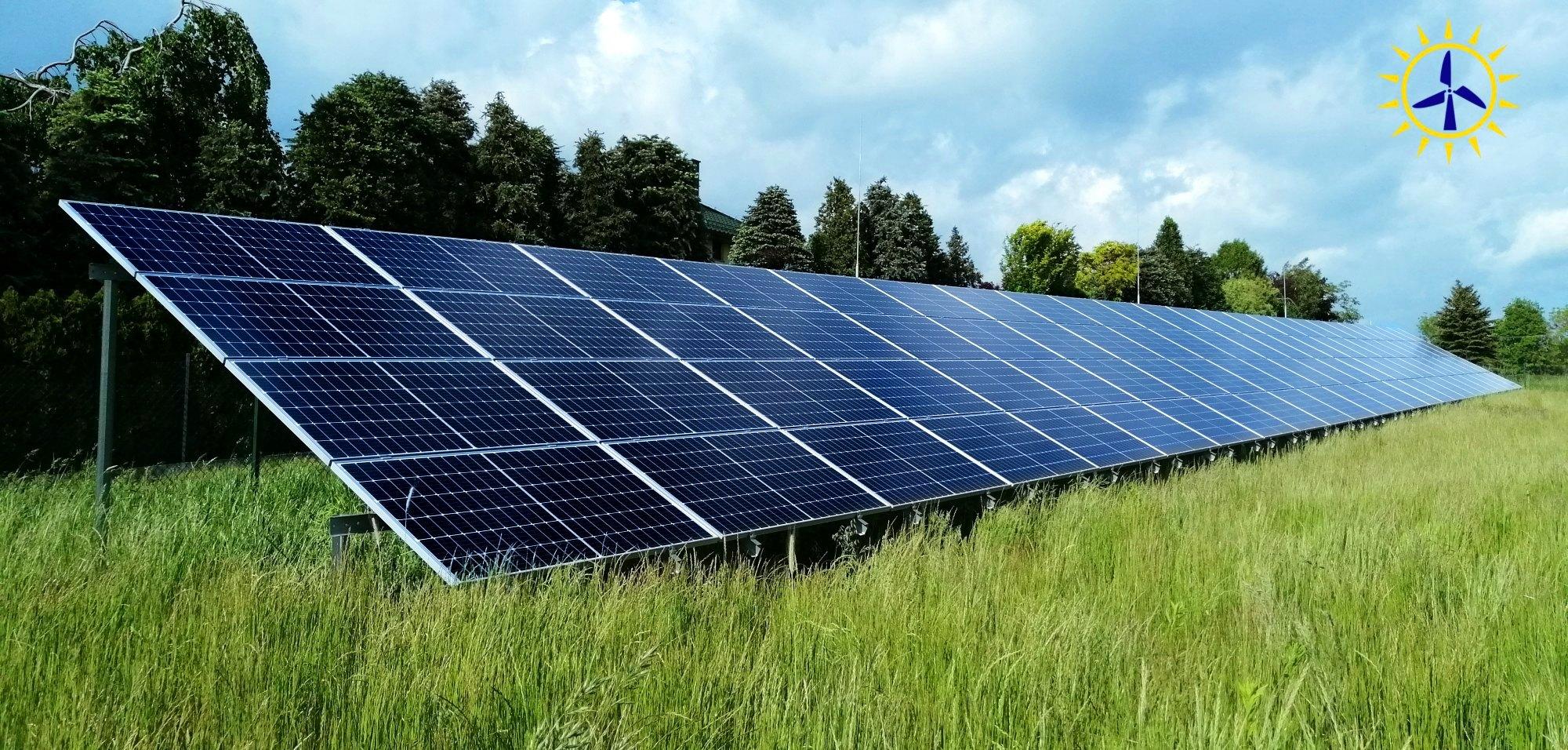 Polska Energia fotowoltaika Andrychów Instalacja gruntowa dwupodporowa