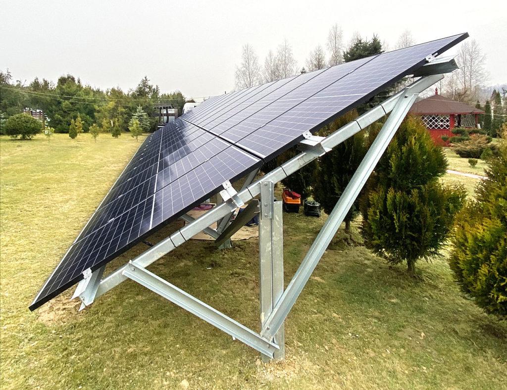 Konstrukcja Gruntowa jednopodporowa fotowoltaiczna Polska Energia Andrychów