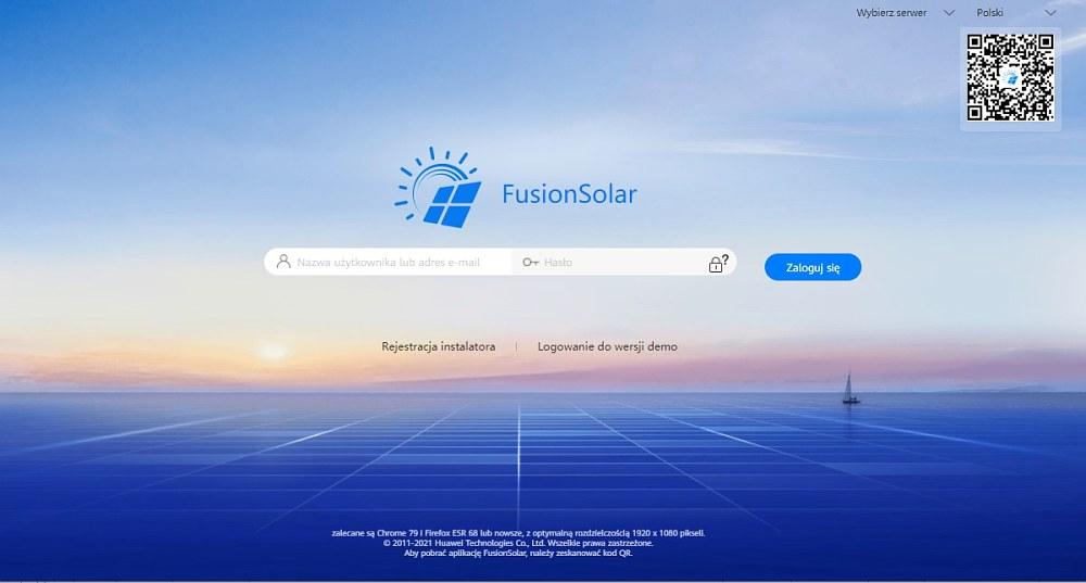 fotowoltaika huawei logowanie fusionsolar 7.0 2021 Polska Energia Andrychów